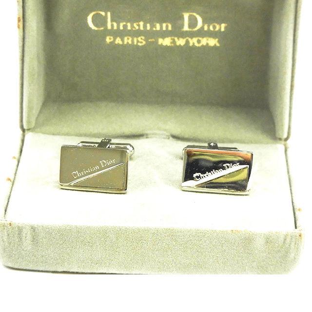 【中古】 ディオール Christian Dior カフス アクセサリー メンズ可 シルバー T15394 .