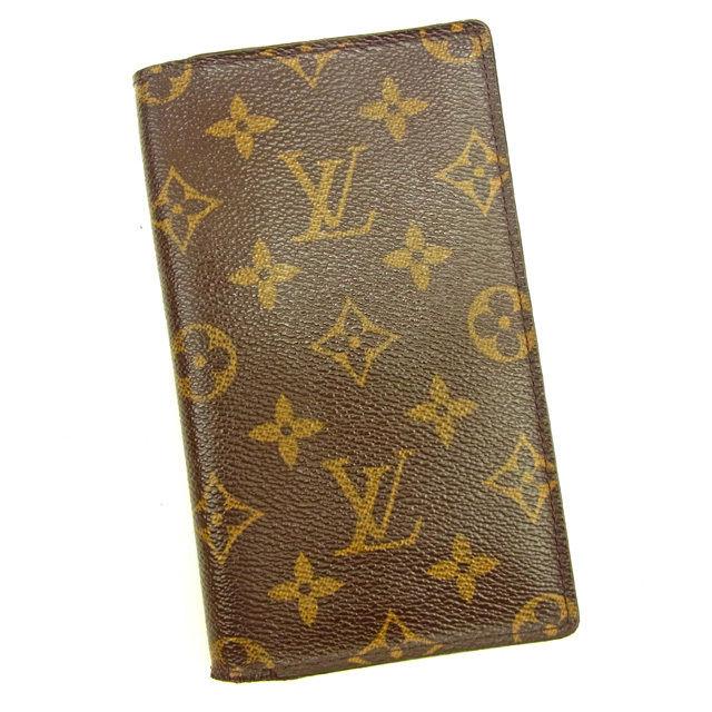 【中古】 ルイ ヴィトン Louis Vuitton 手帳カバー アジェンダポッシュ モノグラム ブラウン モノグラムキャンバス 人気 Y6043 .