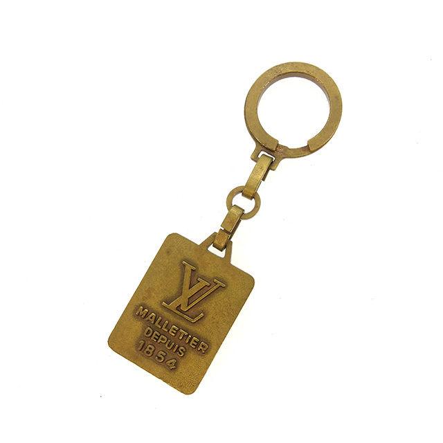 【中古】 ルイヴィトン LOUIS VUITTON キーリング キーホルダー メンズ可 ゴールド ゴールド素材 ヴィンテージ レア Y6062 .
