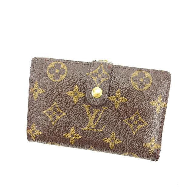 【中古】 ルイ ヴィトン がま口財布 二つ折り財布 Louis Vuitton ブラウン Y6359s