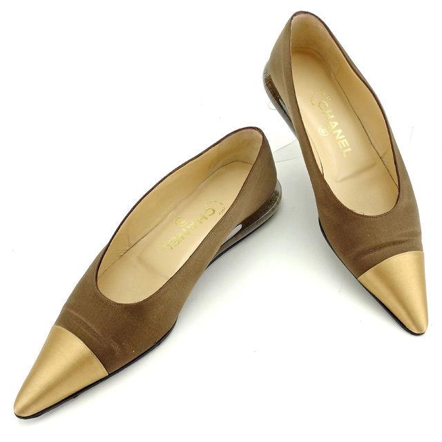 de14a8c779ed 【中古】 シャネル CHANEL パンプス シューズ 靴 レディース ♯37ハーフ ポインテッドトゥ バイ