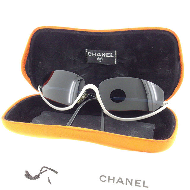 5391e4c73a9 Under rim clear navy X silver plastic X silver metal fittings quality goods  sale Y6481 with the Chanel CHANEL sunglasses glasses men s possible here  mark