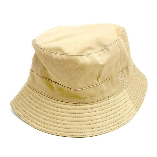 【中古】 エルメス HERMES 帽子 メンズ可 ベージュ 綿60%ポリエステル30%ポリウレタン10%(裏地)アセテート10% T14340