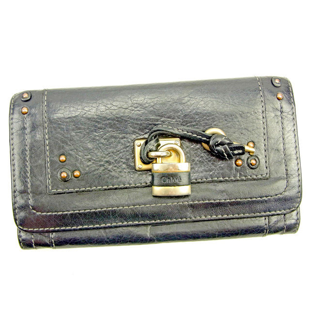 fd627e8d2fb1 長財布 財布 ファスナー付き長財布 財布 ブラック×ゴールド パディントン メンズ可 Y7584s .