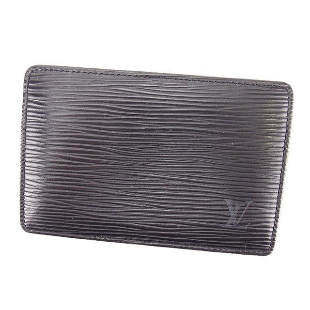 【中古】 ルイ ヴィトン Louis Vuitton カードケース パスケース メンズ可 ポルトカルトサーンプル エピ ノワール(ブラック) エピレザー 人気 Y7611 .