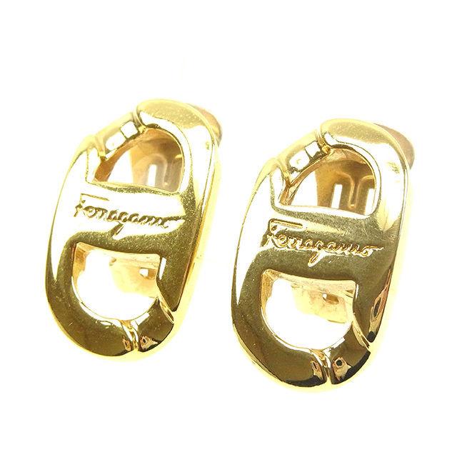 【中古】 サルヴァトーレ フェラガモ Salvatore Ferragamo イヤリング アクセサリー レディース ゴールド ゴールドメッキ T13584 .