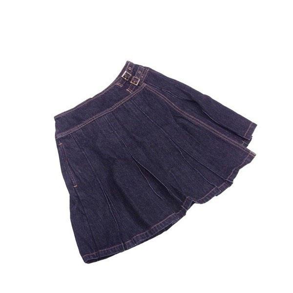 【値引きクーポン】 【中古】 バーバリー BURBERRY スカート ♯キッズ150Aサイズ レディース ♯キッズ150Aサイズ ブラック×ベージュ L2121 .