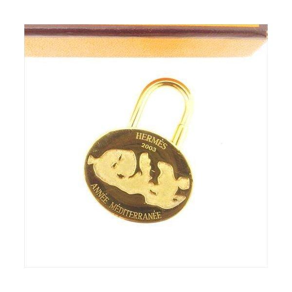 【中古】 エルメス HERMES カデナ パドロック 南京錠 レディース メンズ 可 2003年 ゴールド ゴールド 限定 T6208