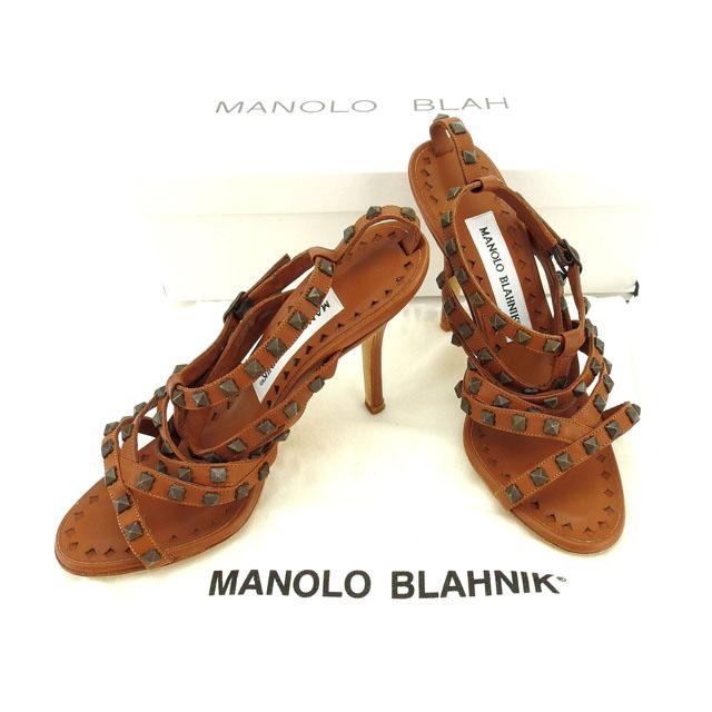 【中古】 マロノブラニク MANOLO BLAHNIK サンダル #34 1 2 レディース ブラウン C1997