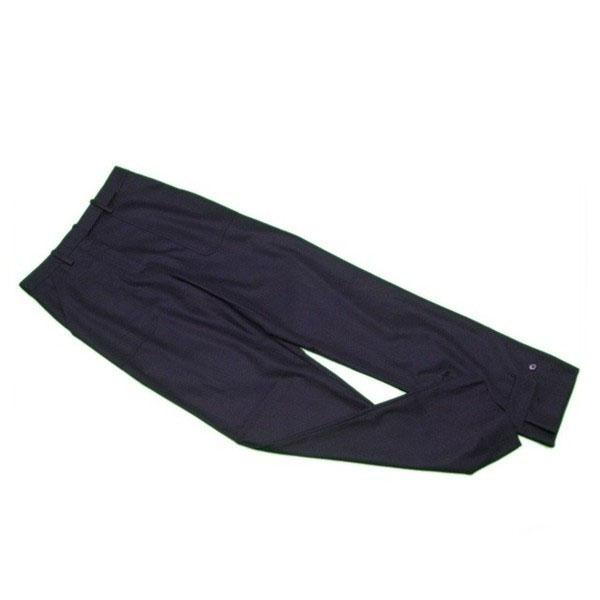 【中古】 マルタンマルジェラ Maison Margiela パンツ 裾デザイン レディース ♯40サイズ ワイド ブラック 毛/99%ポリウレタン/1% 中古 C3050