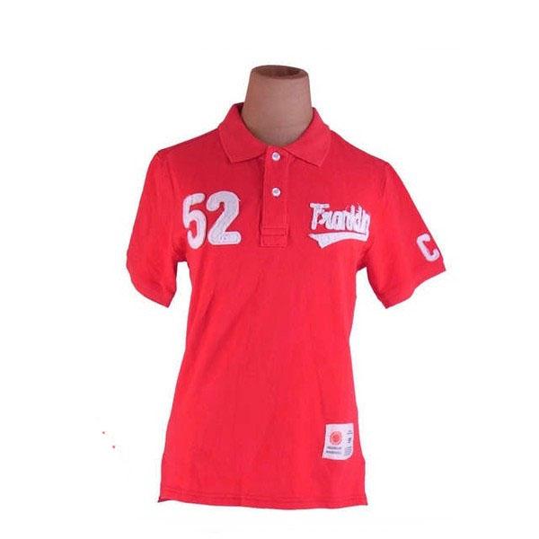 【値引きクーポン】 【中古】 フランクリンマーシャル FRANKLIN MARSHALL ポロシャツ カットソー レディース ♯Sサイズ 半袖 レッド×ホワイト G1188 .