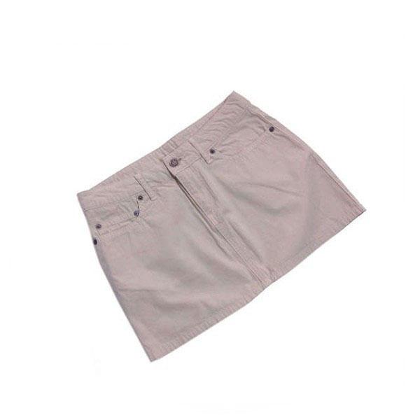 【中古】 ルシアンペラフィネ lucien pellat-finet スカート ミニ丈 レディース XSサイズ 後ポケット付き スカル刺繍 ベージュ 良品 人気 L2061