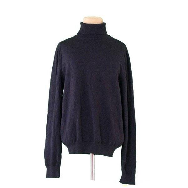 【値引きクーポン】 【中古】 グッチ GUCCI ニット 長袖 セーター レディース メンズ 可 ♯Mサイズ ブラック L2404 .