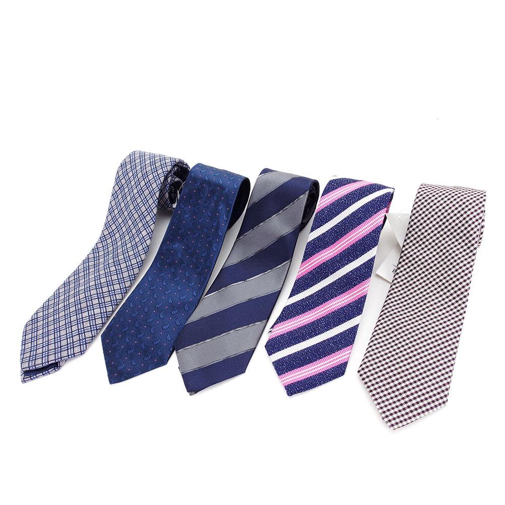 【中古】 アザブ ザカスタムシャツ AZABU THE CUSTOM SHIRT ネクタイ 5本セット メンズ ウール、シルク、コットン、ポリエステル P558