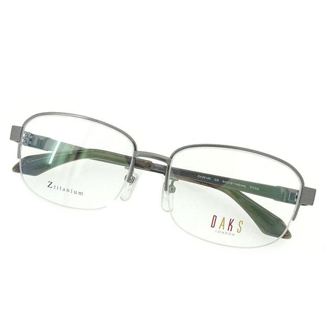 【中古】 ダックス DAKS 眼鏡 メガネ メンズ可 展示品未使用 グレー×シルバー× T1595