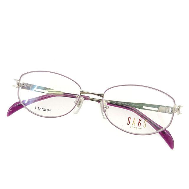 【中古】 ダックス DAKS 眼鏡 メガネ レディース 展示品 ピンク×パープル T1596