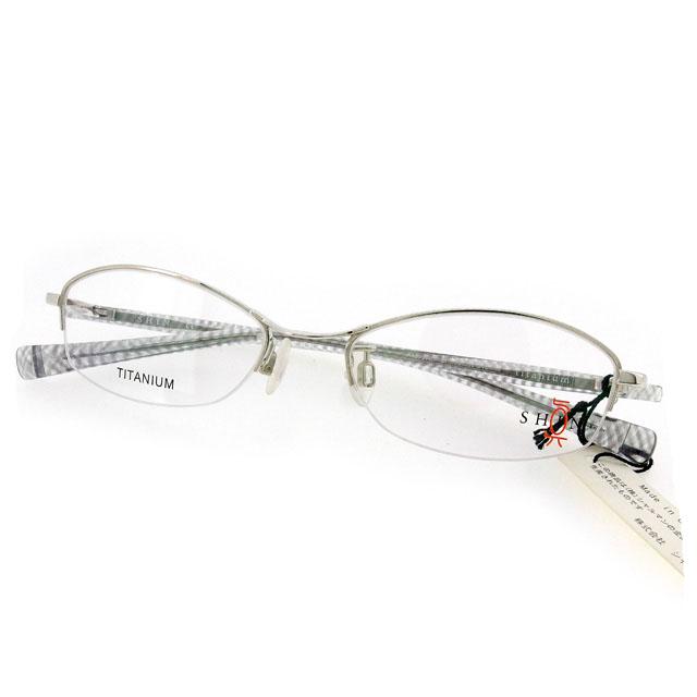 【中古】 シン 真 J20105 メガネ フレーム 眼鏡 レディース メンズ 可 テンプルラメ入り クリア×シルバー プラスチック×チタニウム T1898
