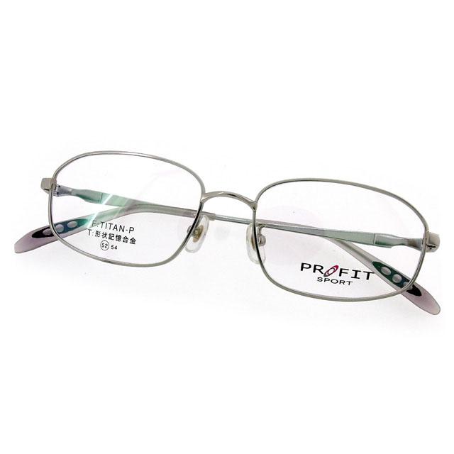 【中古】 シャルマン プロフィット スポーツ CHARMANT PROFIT SPORT メガネ フレーム 眼鏡 レディース メンズ 可 クリア×シルバー プラスチック×チタン T1965