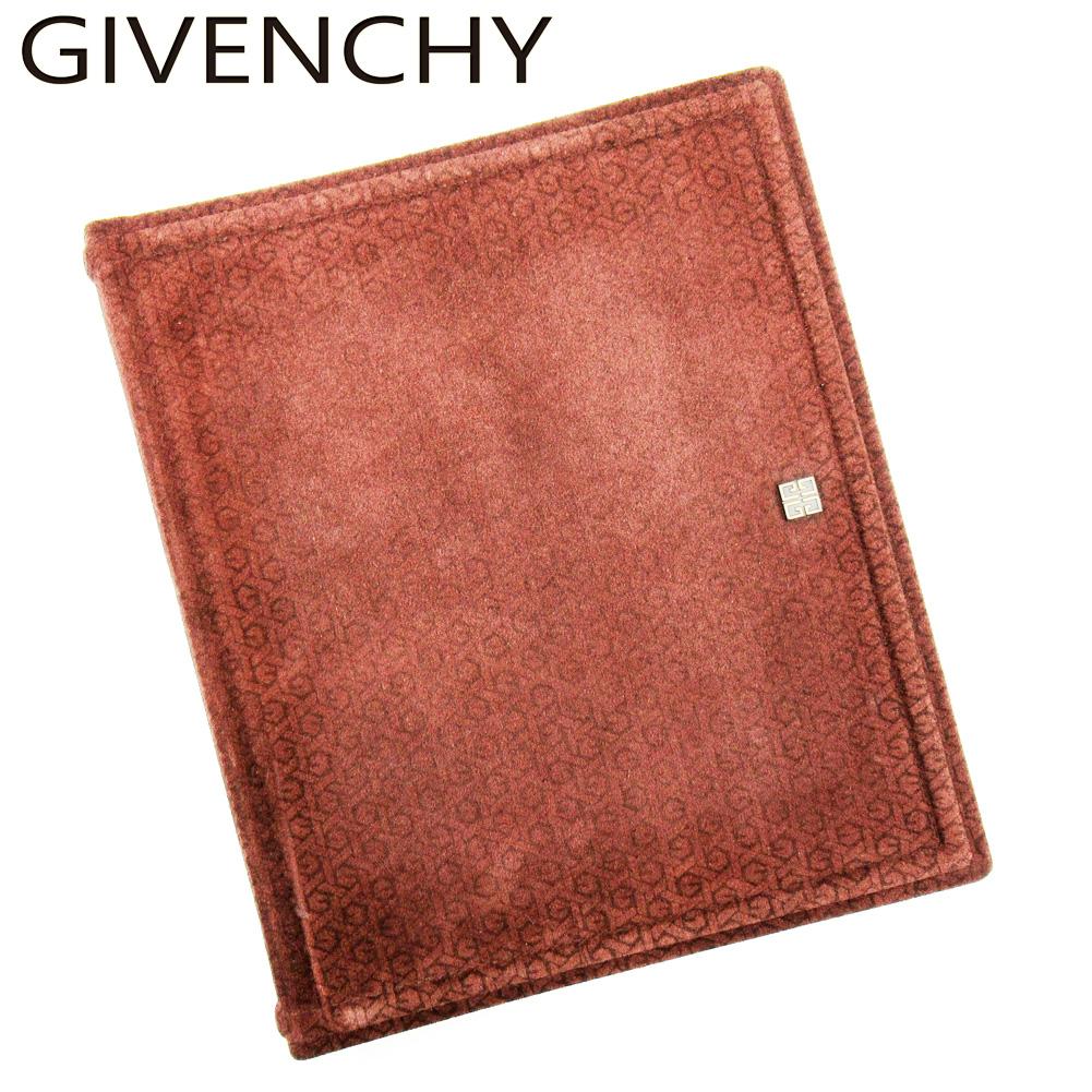 【中古】 ジバンシィ GIVENCHY アルバム フォトアルバム レディース メンズ ブラウン スエード C3624