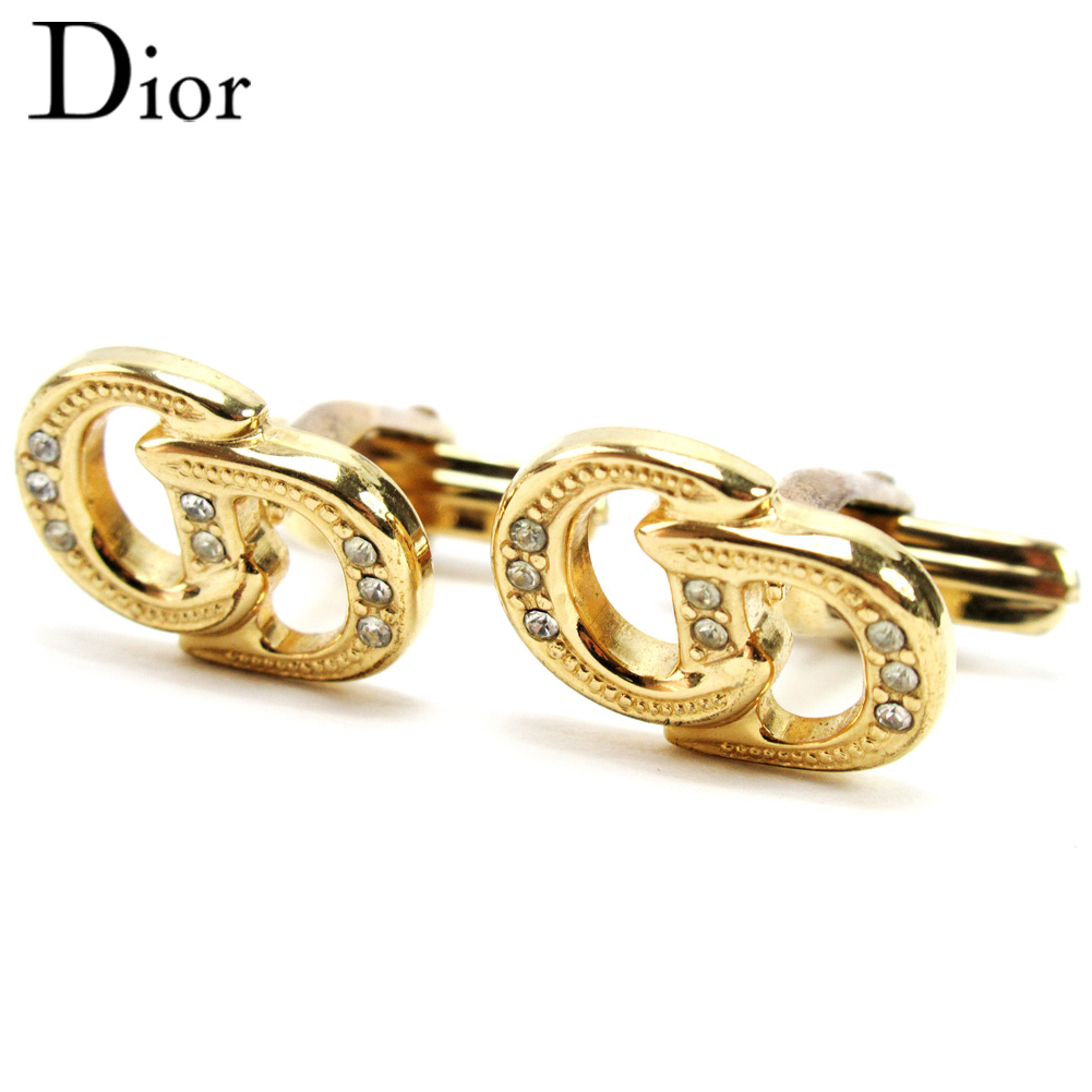 【中古】 ディオール Dior カフス アクセサリー メンズ ゴールド ゴールド金具 T10123 .