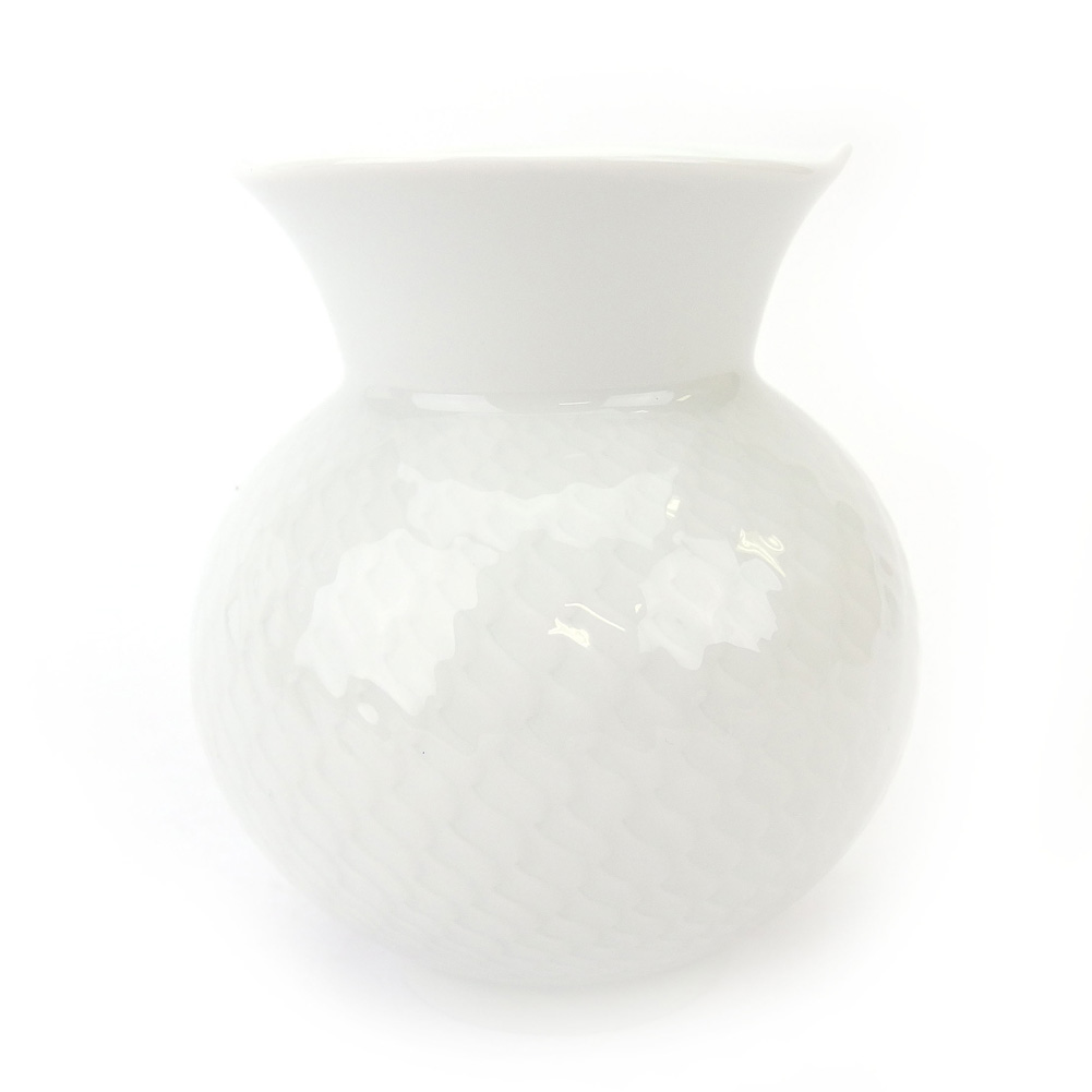 【中古】 マイセン MEISSEN 花瓶 インテリア ギフト ホワイト 白 磁器製 D2153