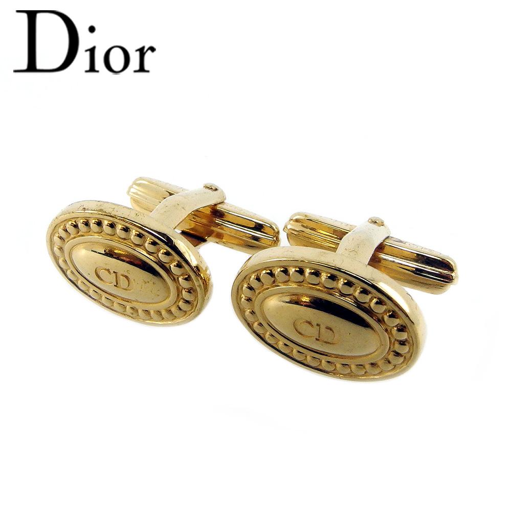【スーパーセール】 【20%オフ】 【中古】 ディオール カフス メンズ ロゴ ゴールド Dior T18469 .