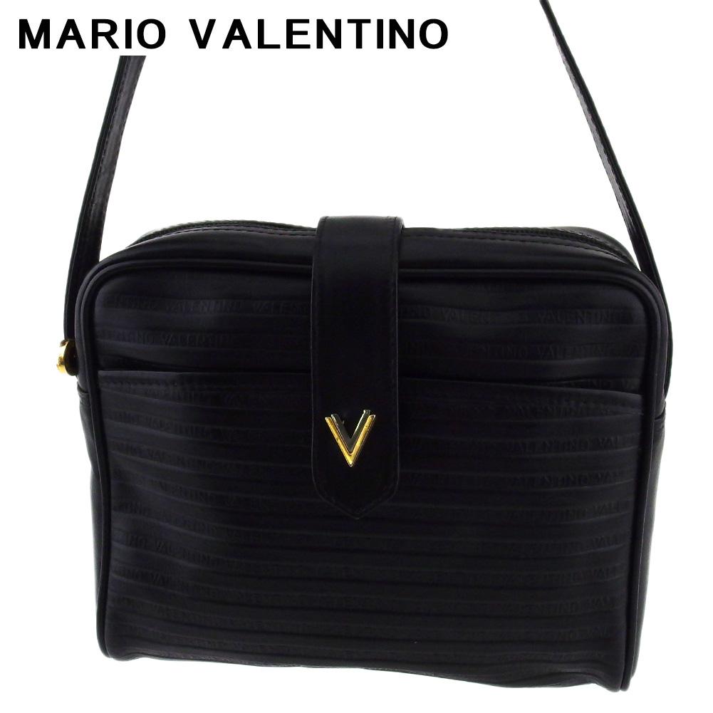 ヴァレンティノ 購入 人気 中古 即納送料無料! マリオ ショルダーバッグ バック 斜めがけショルダー バッグ レディース シルバー MARIO T19739 メンズ ブラック ゴールド Vマーク VALENTINO レザー