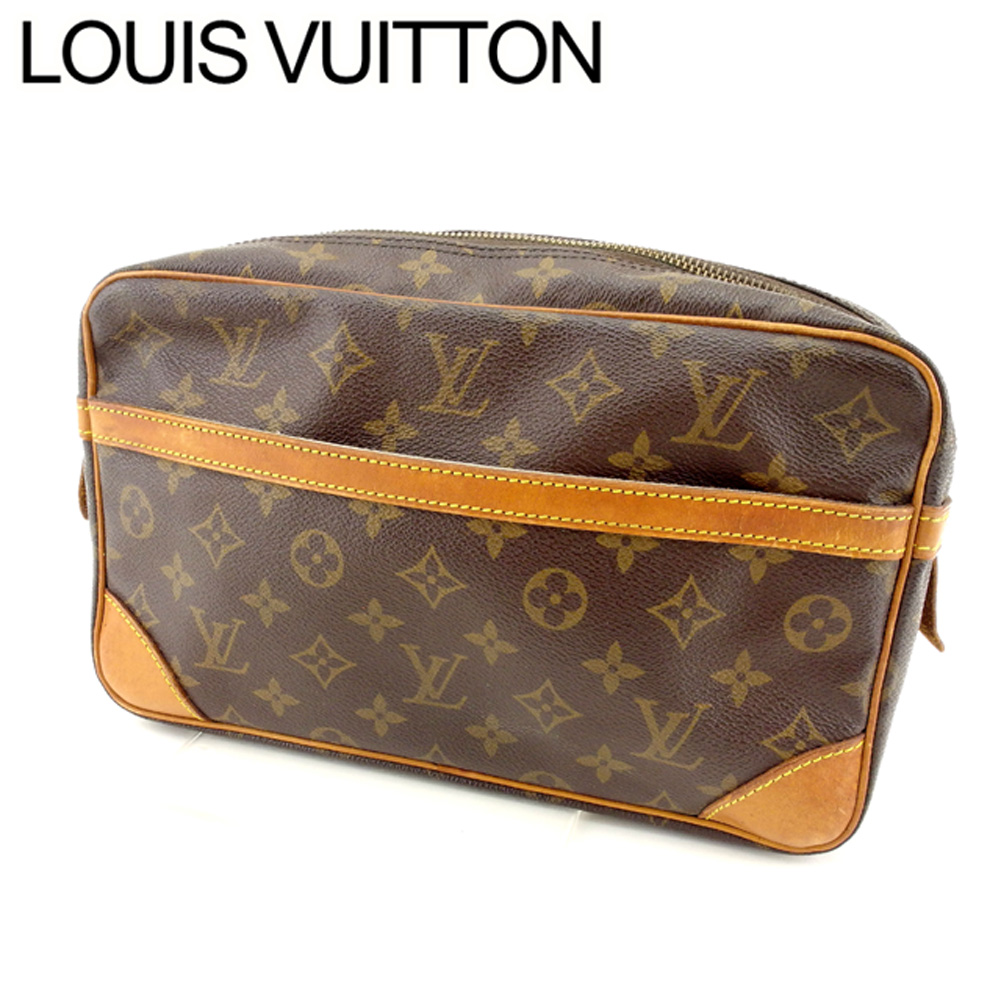 【中古】 ルイヴィトン Louis Vuitton セカンドバッグ クラッチバッグ メンズ可 コンピエーニュ28 モノグラム ブラウン モノグラムキャンバス A867