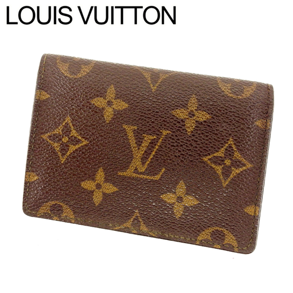 【中古】 ルイヴィトン Louis Vuitton 定期入れ パスケース ポルト2カルトヴェルティカル モノグラム PVC×レザー B774