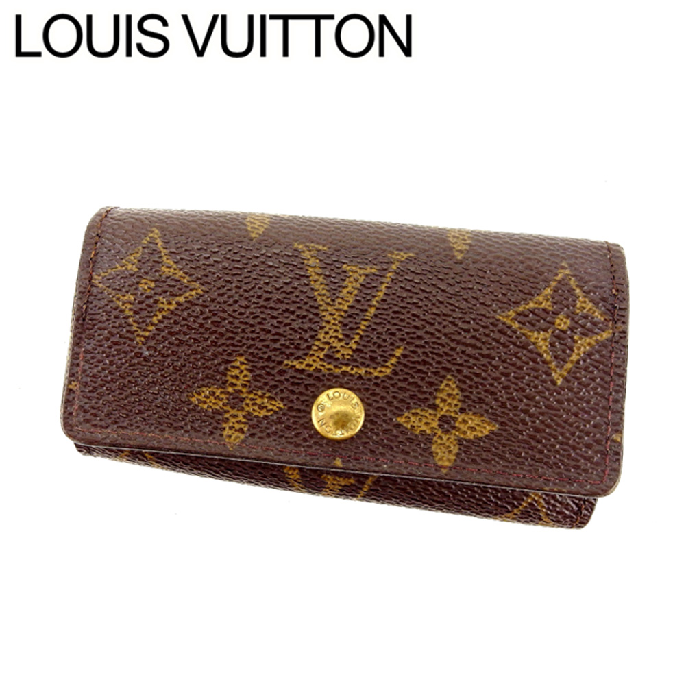 【中古】 ルイヴィトン Louis Vuitton キーケース 4連キーケース メンズ可 ミュルティクレ4 モノグラム ブラウン モノグラムキャンバス C1543 .