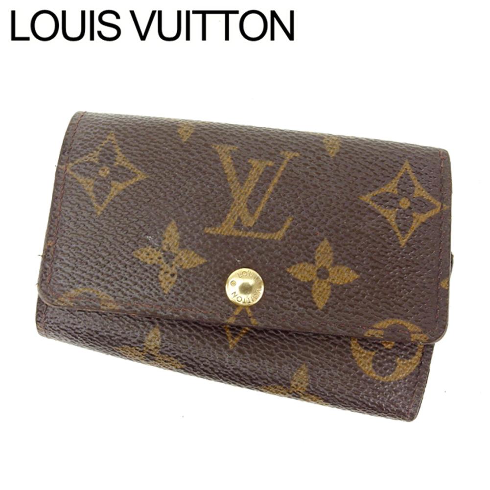 【中古】 ルイヴィトン Louis Vuitton キーケース 6連キーケース レディース ミュルティクレ6 ブラウン モノグラムキャンバス C1920