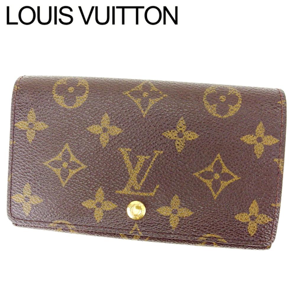 【中古】 ルイヴィトン Louis Vuitton L字ファスナー財布 メンズ可 ポルトモネビエトレゾール モノグラム PVC×レザー E630 .