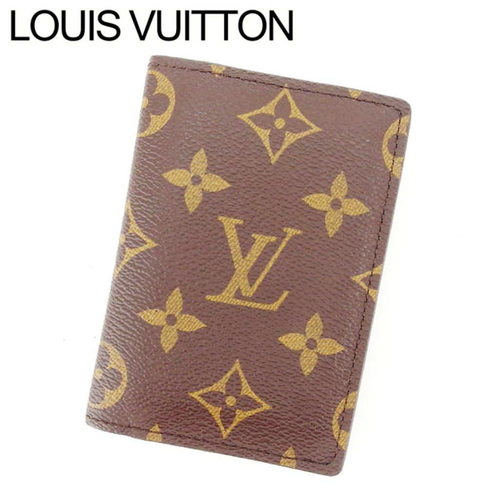 【中古】 ルイヴィトン Louis Vuitton 名刺入れ カードケース レディース オーガナイザー ドゥ ポッシュ PVC×レザ- E670 .