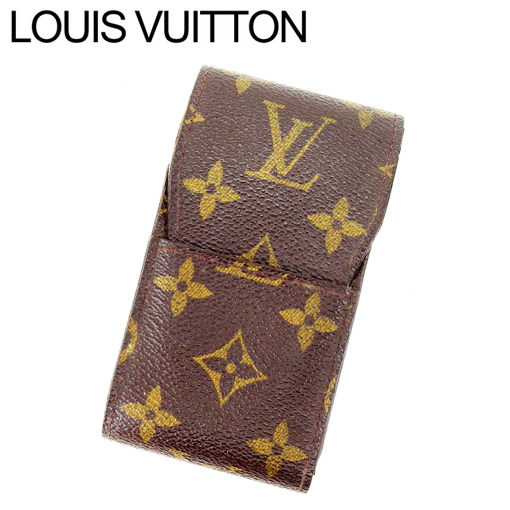 Louis Vuitton Louis Vuitton cigarette case cigarette case men's possible  エテュイシガレットモノグラム M63024 brown monogram canvas (reference list price 26,250  yen)