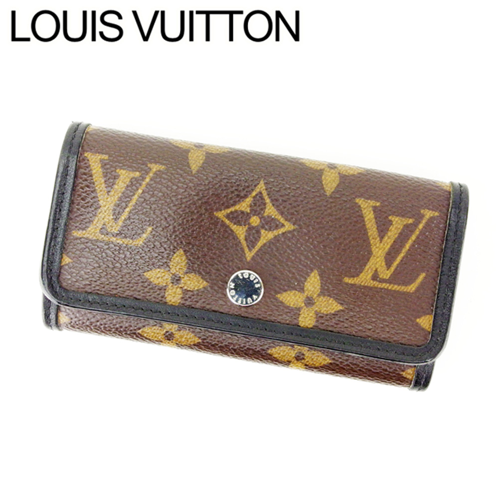【中古】 ルイヴィトン キーケース 6連キーケース Louis Vuitton ブラウン×ブラック I148s