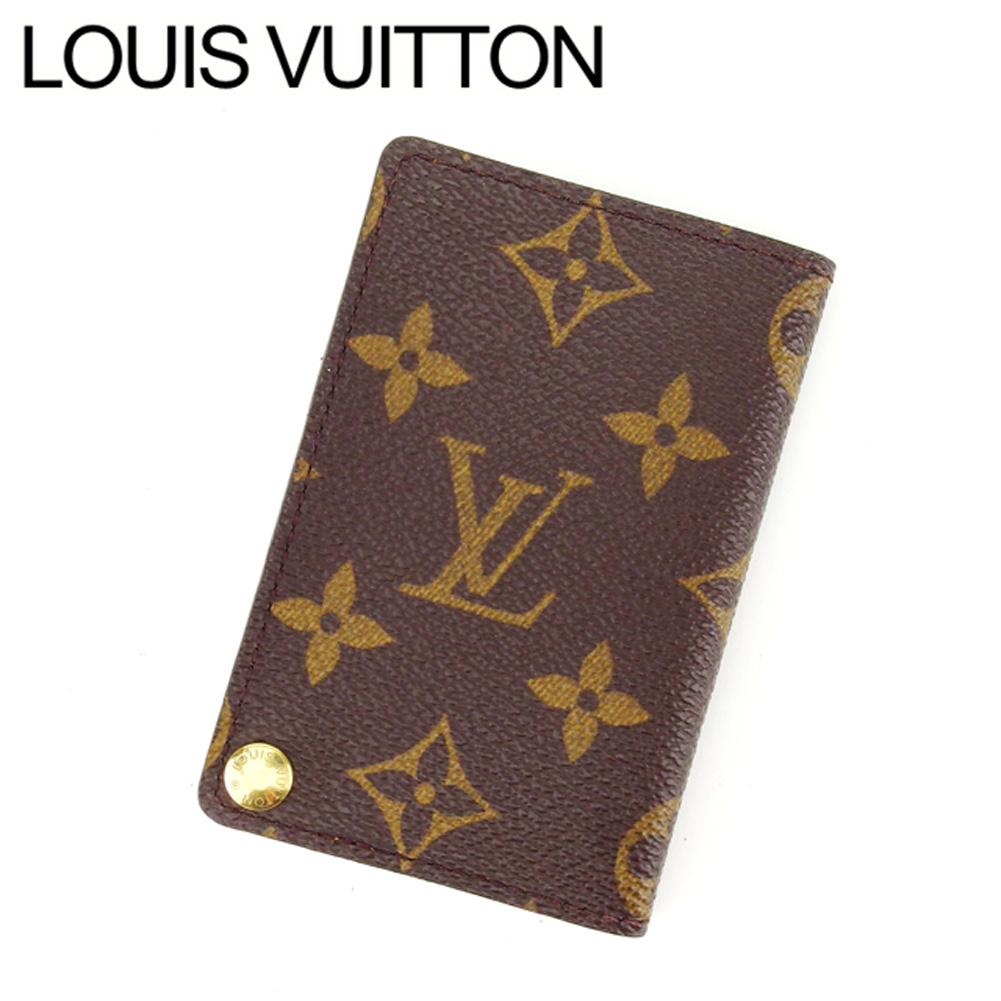 【中古】 ルイヴィトン Louis Vuitton カードケース 名刺入れ メンズ可 ポルトカルトクレディプレッシオン モノグラム M60937 ブラウン モノグラムキャンバス (あす楽対応)人気 L581 .