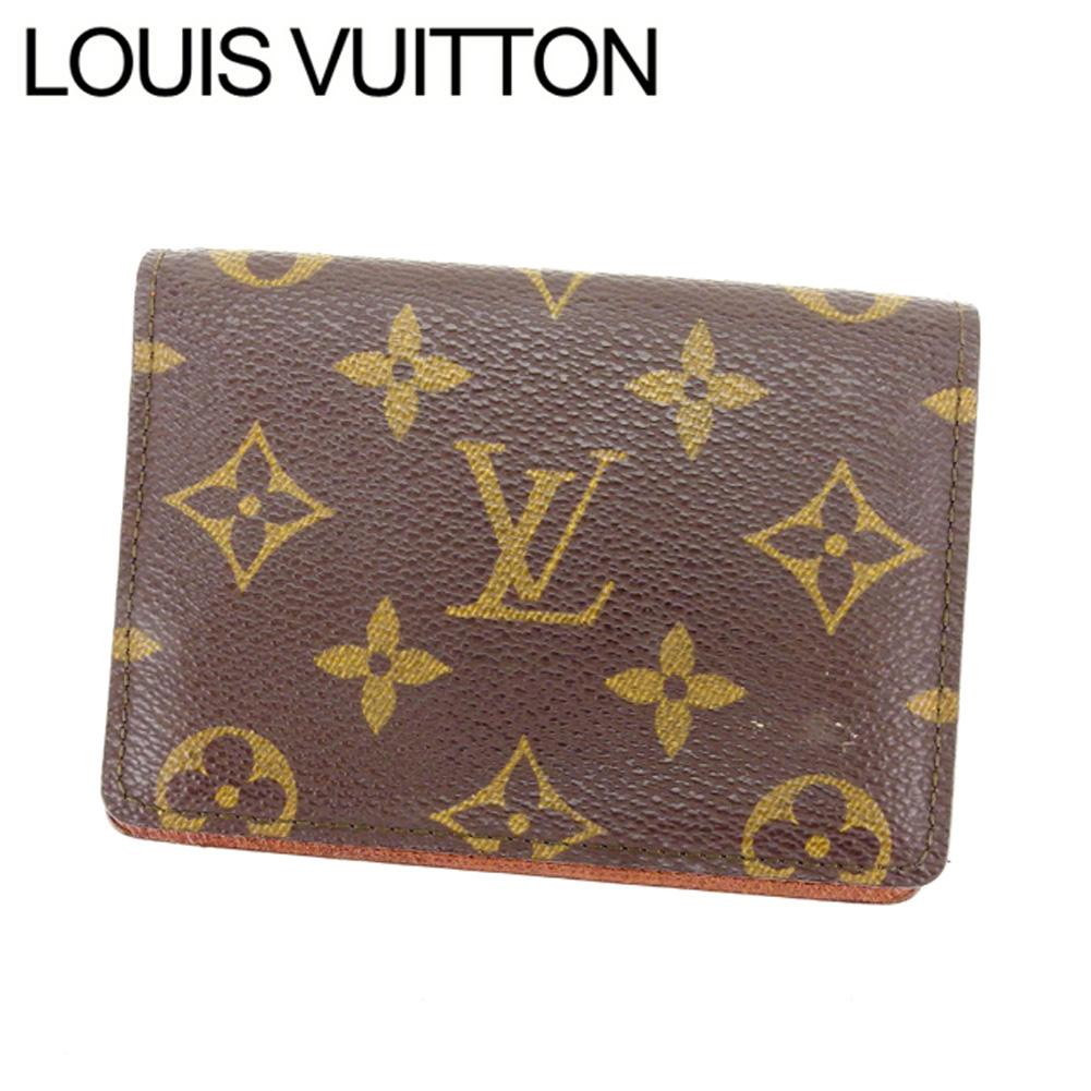 【中古】 ルイヴィトン Louis Vuitton 定期入れ パスケース メンズ可 ポルト2カルトヴェルティカル モノグラム M60533 ブラウン モノグラムキャンバス (あす楽対応)人気 L585
