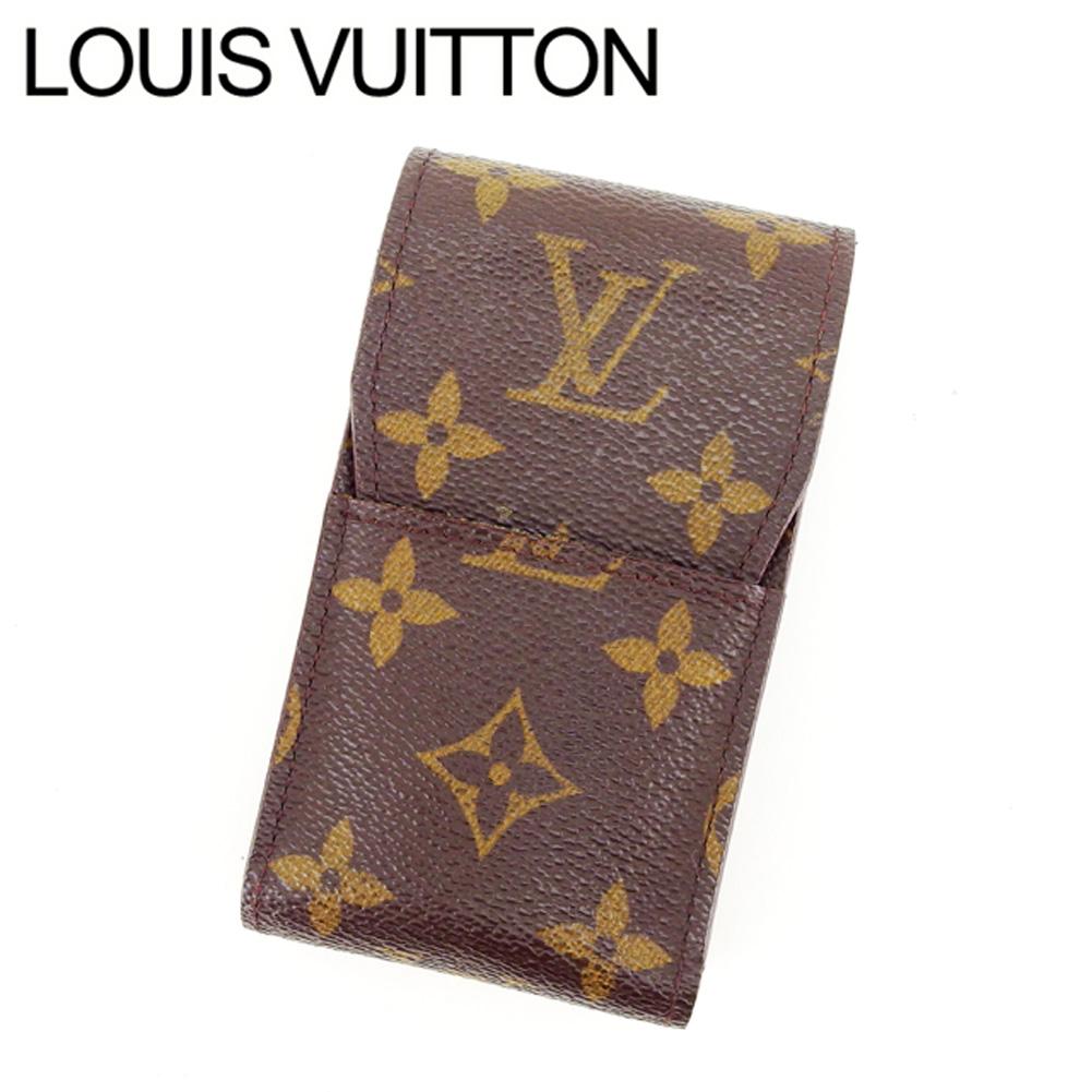 【中古】 ルイヴィトン Louis Vuitton シガレットケース タバコケース レディース エテュイシガレット ブラウン モノグラムキャンバス L759