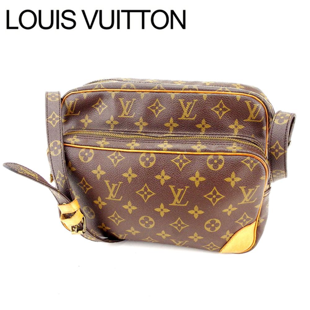 【中古】 ルイヴィトン Louis Vuitton ショルダーバッグ 斜めがけショルダー 男女兼用 ナイル モノグラム M45244 ブラウン モノグラムキャンバス (あす楽対応)良品 L798