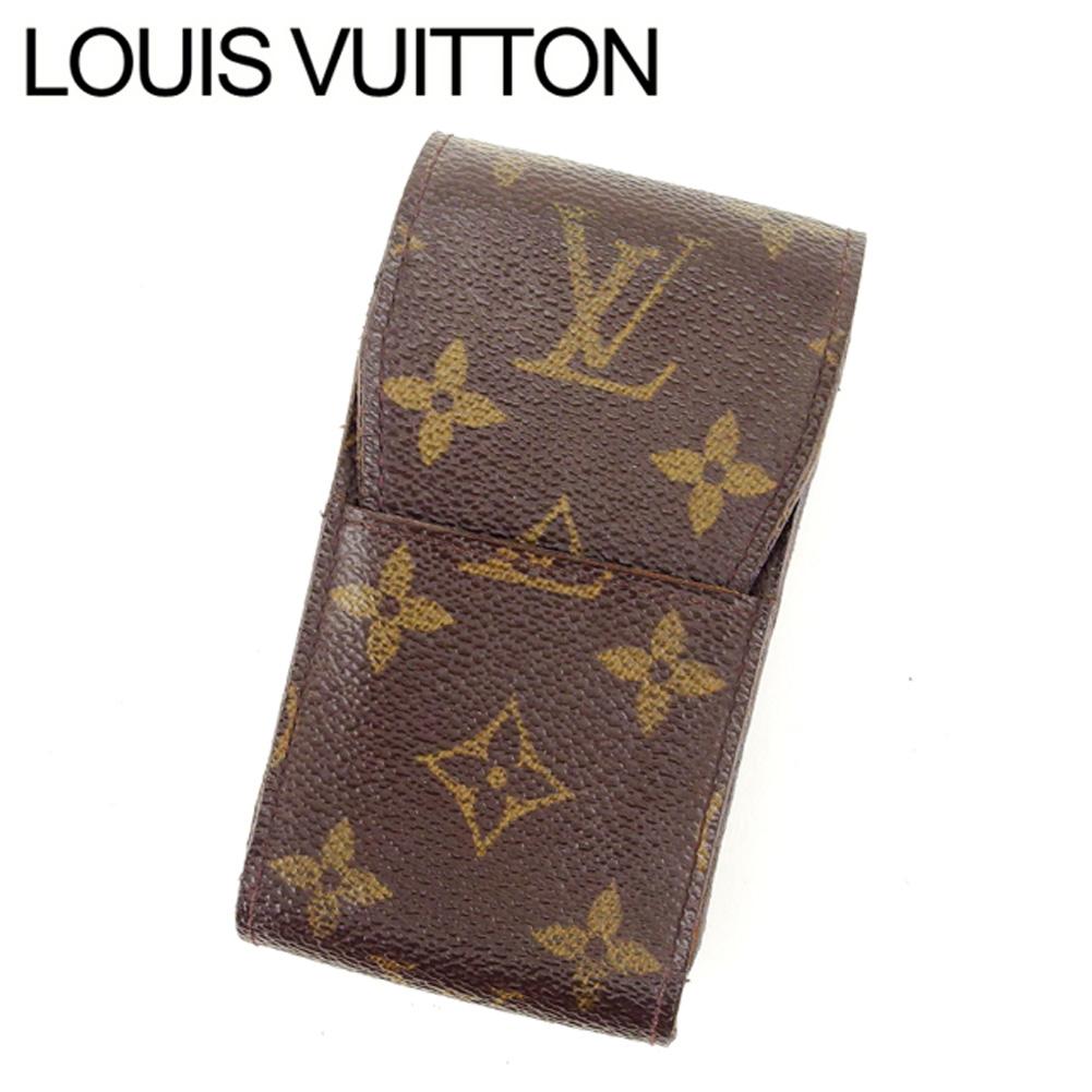 【中古】 ルイ ヴィトン Louis Vuitton シガレットケース タバコケース ブラウン エテュイシガレット モノグラム レディース L831s