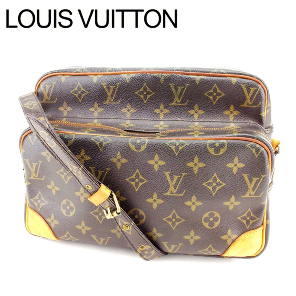 【中古】 ルイヴィトン Louis Vuitton ショルダーバッグ /斜め掛けショルダー メンズ可 ナイル モノグラム M45244 ブラウン PVC×レザー (あす楽対応)(良品・即納) M743