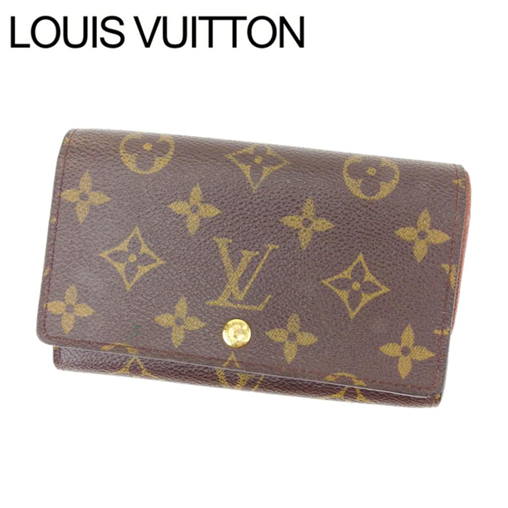 【中古】 ルイヴィトン Louis Vuitton L字ファスナー財布 /USA メンズ可 /ポルトモネビエトレゾール モノグラム M61730 ブラウン PVC×レザー (あす楽対応)(激安 人気) R1069 .