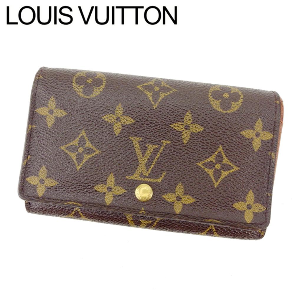 【中古】 ルイヴィトン Louis Vuitton L字ファスナー財布 二つ折り メンズ可 /ポルトモネビエトレゾール モノグラム M61730 ブラウン PVC×レザー (あす楽対応)(激安・即納) Y042 .