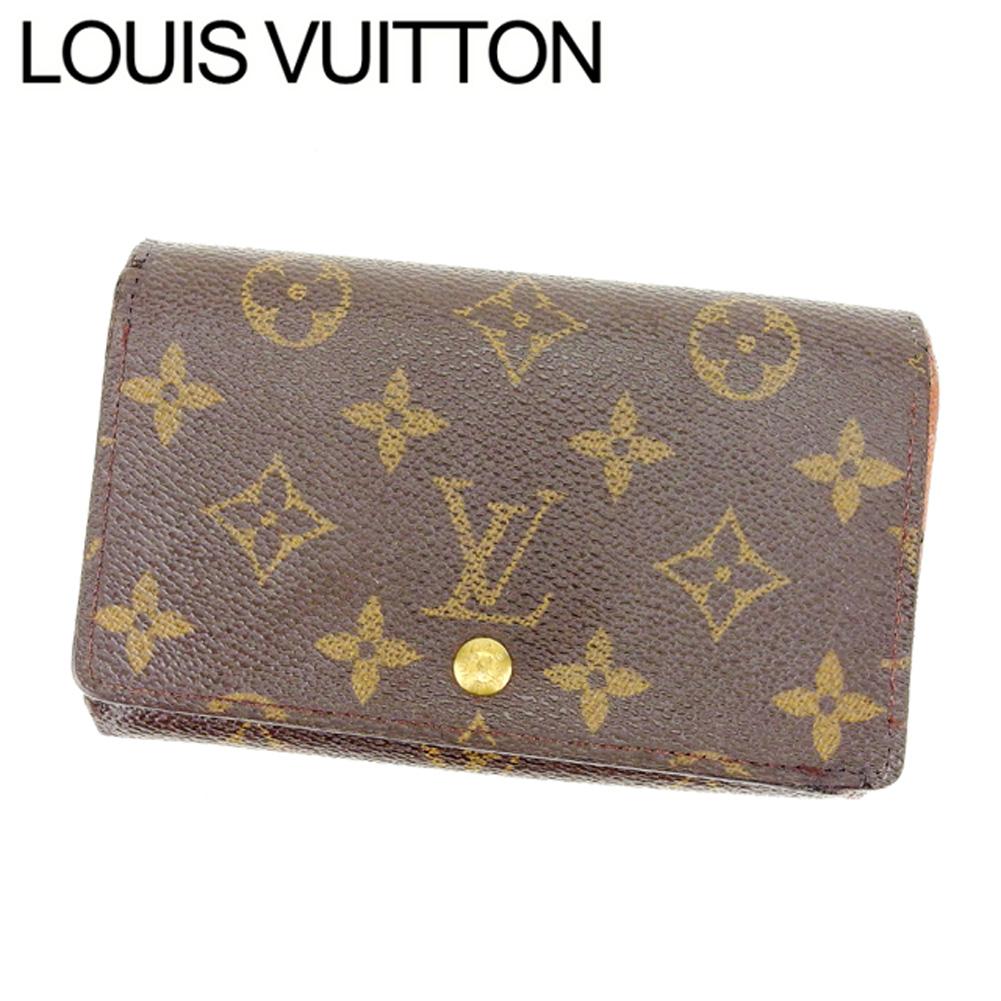 【中古】 ルイヴィトン Louis Vuitton L字ファスナー財布 二つ折り メンズ可 /ポルトモネビエトレゾール モノグラム M61730 ブラウン PVC×レザー (あす楽対応)(激安・即納) Y057 .