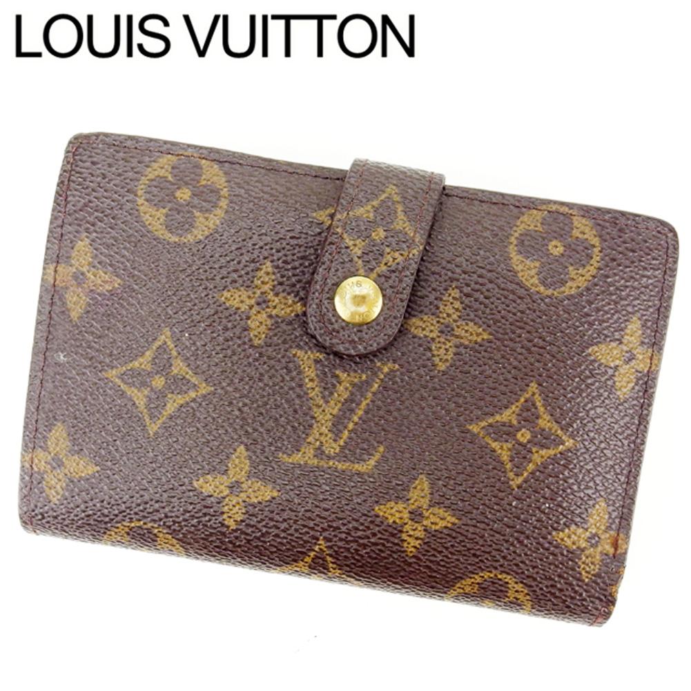 【中古】 ルイヴィトン Louis Vuitton がま口財布 二つ折り メンズ可 /ポルトモネ ビエヴィエノワ モノグラム M61663 ブラウン PVC×レザー (あす楽対応)(激安・即納) T12116 .