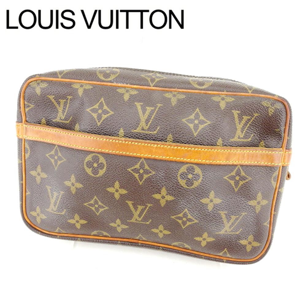 【中古】 ルイヴィトン Louis Vuitton セカンドバッグ /メンズ可 /コンピエーニュ23 モノグラム M51847 モノグラムキャンバス (あす楽対応)人気 激安 Y1074