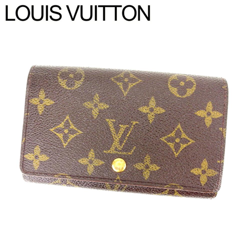 【中古】 ルイヴィトン Louis Vuitton L字ファスナー財布 二つ折り メンズ可 /ポルトモネビエトレゾール モノグラム M61730 ブラウン PVC×レザー (あす楽対応)(激安・即納) Y141 .