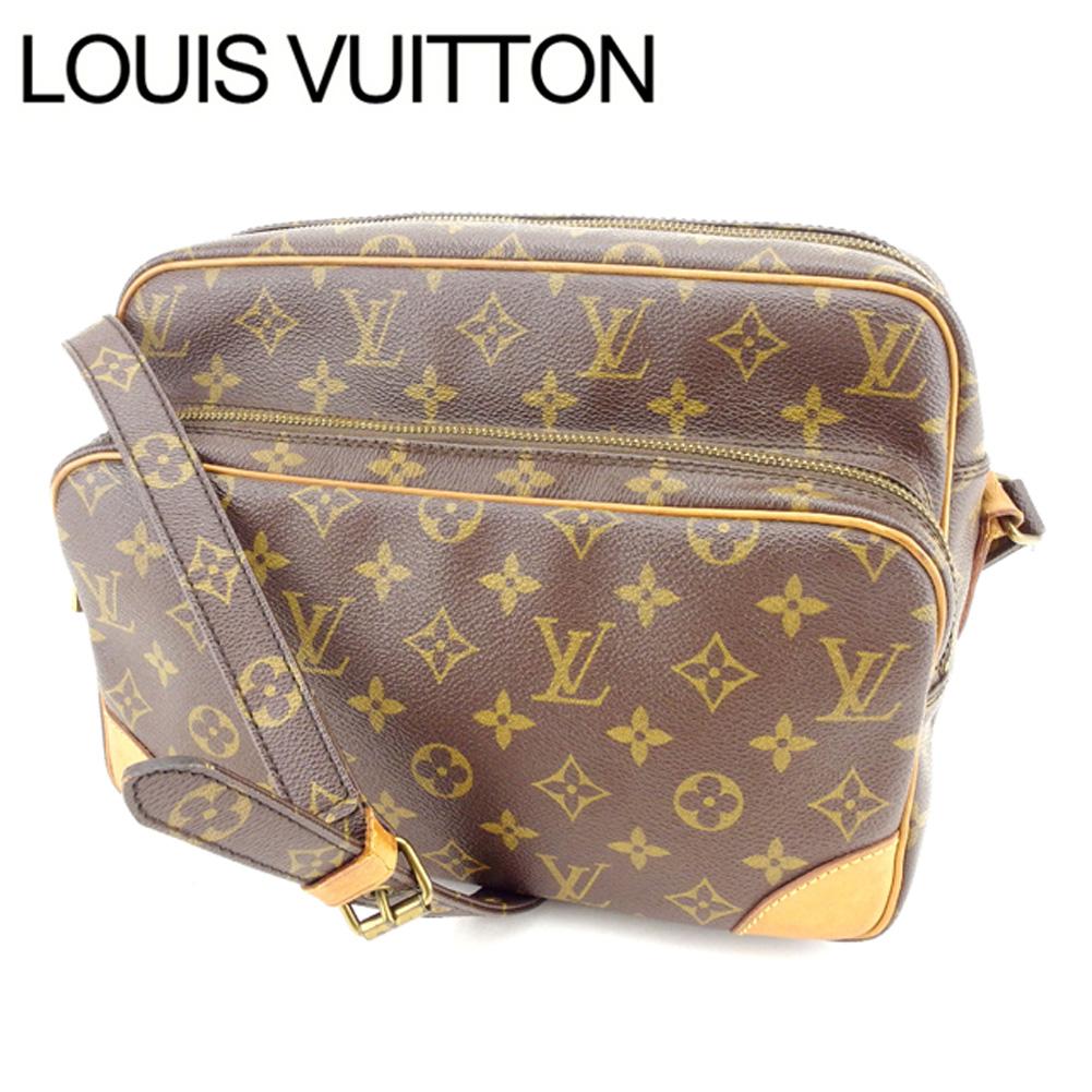 【中古】 ルイヴィトン Louis Vuitton ショルダーバッグ /斜めがけショルダー メンズ可 /ナイル モノグラム M45244 ブラウン PVC×レザー (あす楽対応)激安 人気 Y1443