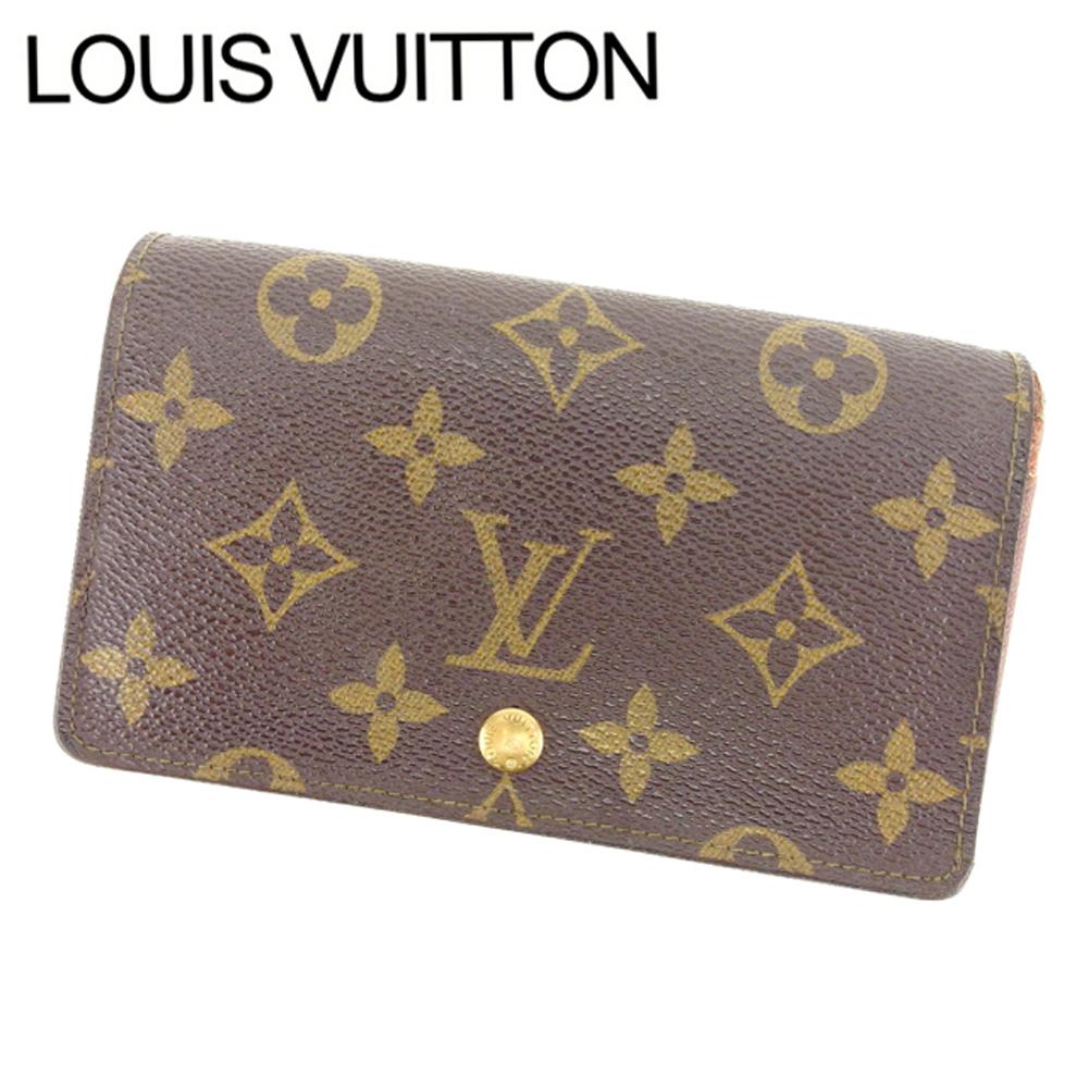 【中古】 ルイヴィトン Louis Vuitton L字ファスナー財布 二つ折り メンズ可 /ポルトモネビエトレゾール モノグラム M61730 ブラウン PVC×レザー (あす楽対応)人気 激安 Y1578 .