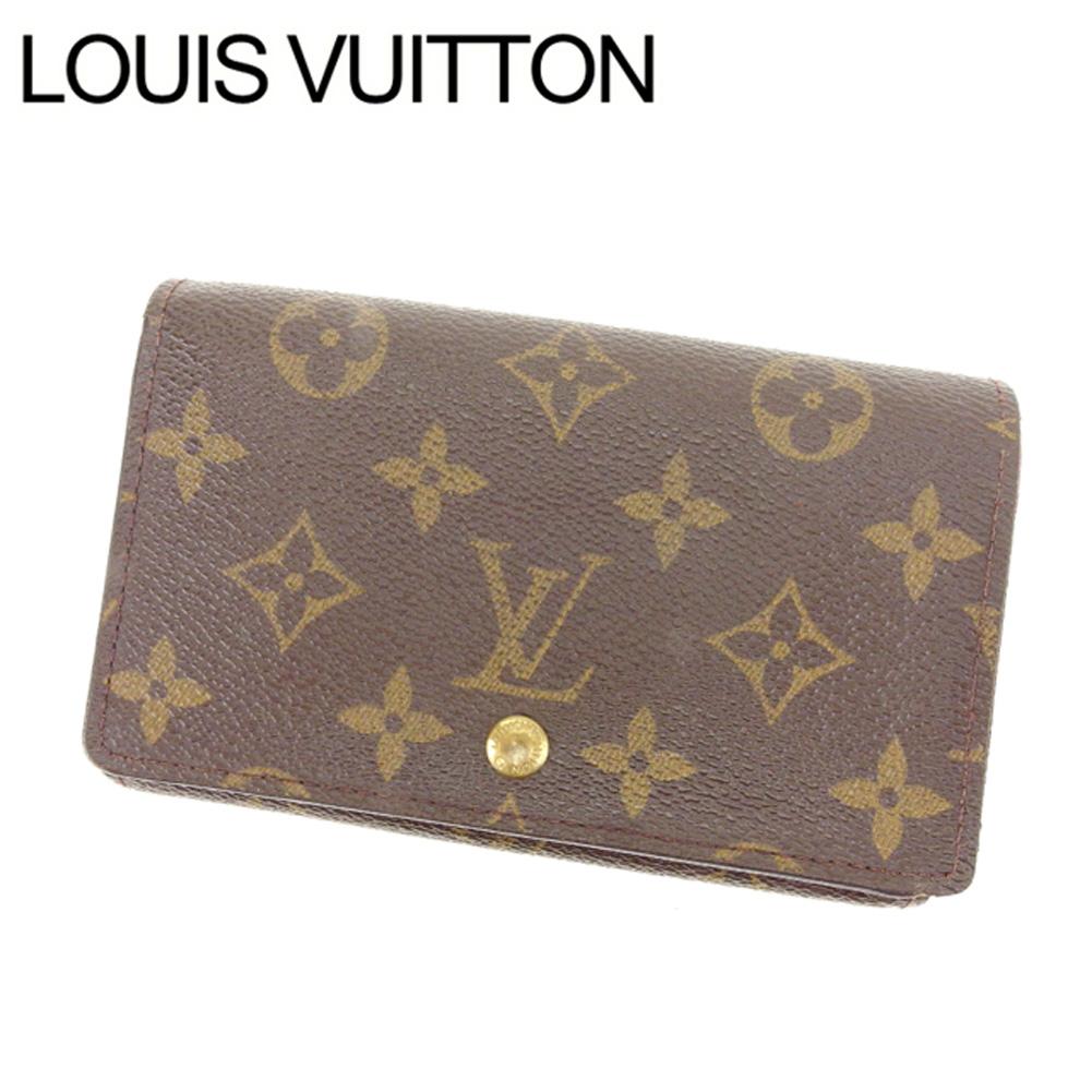 【中古】 ルイヴィトン Louis Vuitton L字ファスナー財布 二つ折り メンズ可 /ポルトモネビエトレゾール モノグラム M61730 ブラウン PVC×レザー (あす楽対応)人気 Y1987 .